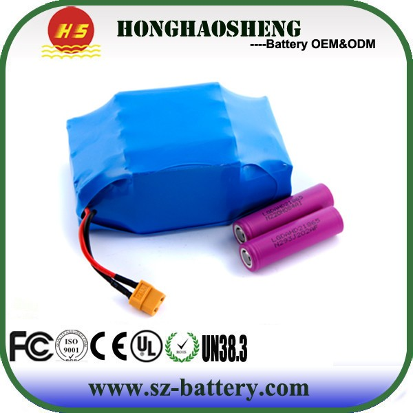 2017 hot sale LG/Samsung lithium battery 10S2P 36V 4.4AH battery pack