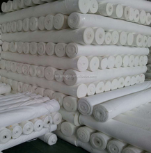 large grey unbleached white polyester cotton fabric rolls