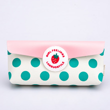 Languo pencil case strawberry fastener canvas pencil case