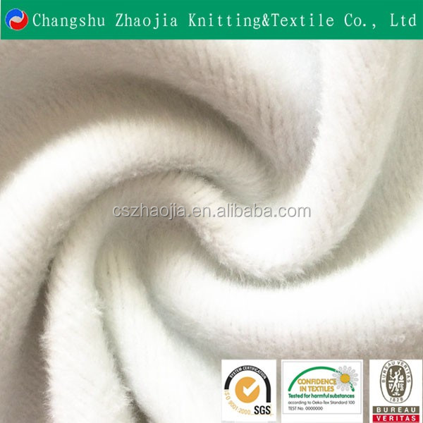 China eco friendly textile factory Super soft polyester elastic thermal fabric for clothing