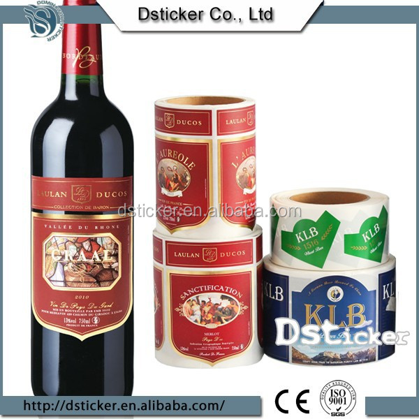 Special Printing China Best Selling Antique Metal Wine Bottle Label