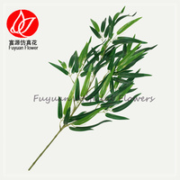 150421 Chinese factory direct cheap price green artificial green plants decorative artificial bamboo sticks