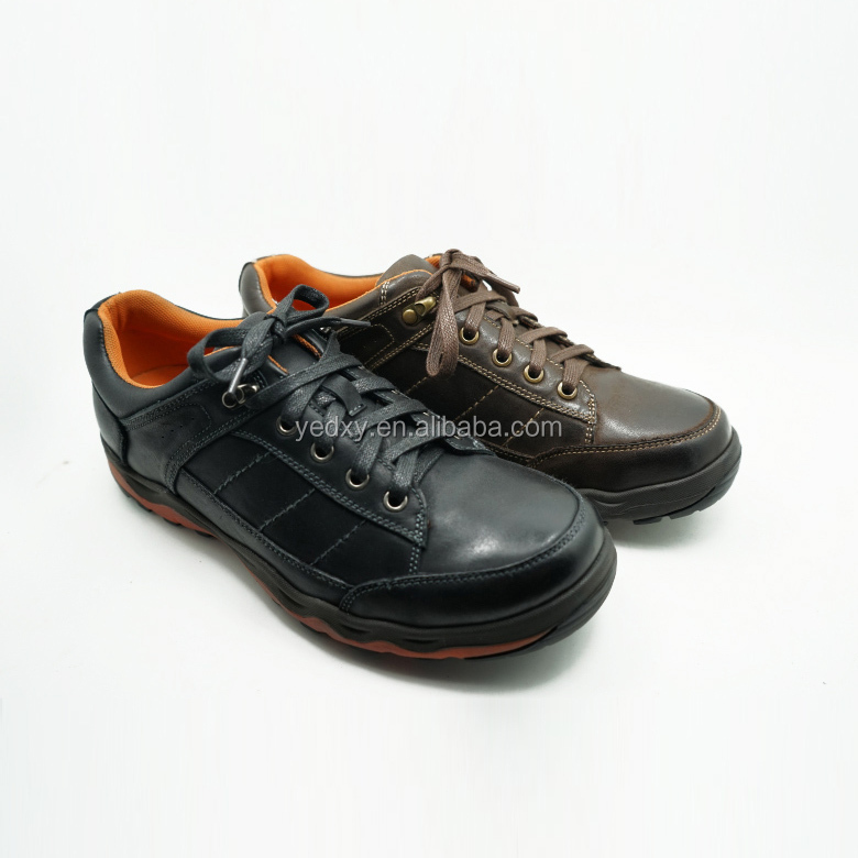 the leather running sports shoe in china shoe factory