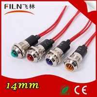 FL1M-14WS Metal 14MM Blue 3V low voltage led indicator with 20cm Cable