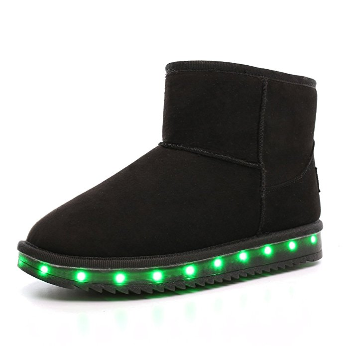 5 Colors Kids LED Shoes Size Range 25-46 USB Rechargerable Breathable Fly Knit Light Up Casual Shoes