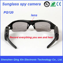 OEM outdoor light hidden USB sunglass camera manual with spy gadget ,CCTV spy camera