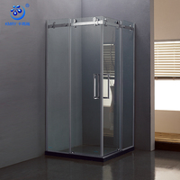 Integrated 304 Stainless Steel Roller Glass Shower Door Price Sliding Shower Cabin With Wheel (KT8112)