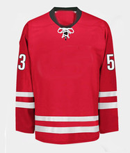 mesh imprinted red Hockey Jersey sports apparel ice hockey jersey china