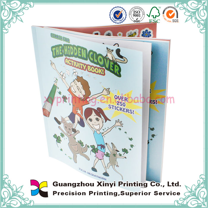 Custaomized factory price high quality wholesale book printing soft cover with sticker