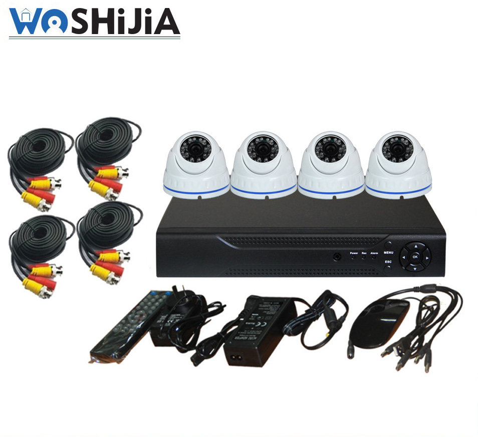 4CH 960P AHD DVR Kit with 4pcs 720P HD AHD Cameras Support IR Night Vision Smartphone Surveilance