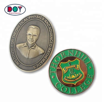 Custom Made Single Die Stamping Collectible Engraved Metal Souvenir Coins for Promotion and Gift
