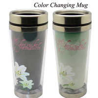 double wall plastic 350ml advertising cup promotion thermos tumbler with paper insert,double wall plastic paper insert tumbler