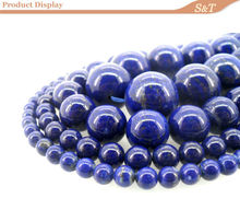 alibaba website new products natural gemstone smooth 10mm lapis lazuli beads jewelry stone thailand