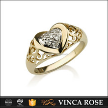Hot new fashion Enduring gold lion of judah ring