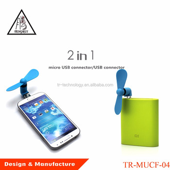 Android Micro USB Type-C Mini Portable Cellphone 3 in 1 USB Fan