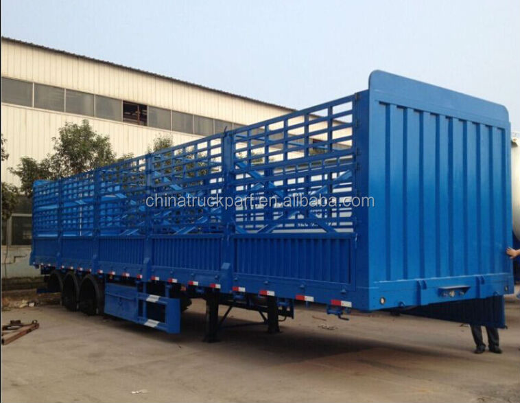 2016 Hot sale 2 Axles/ 3 Axles Van/ Stake/ Cage Semitrailer for tractor