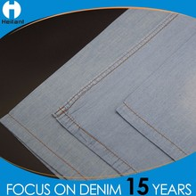wholesale recycled regular denim fabric 100% cotton twill fabric
