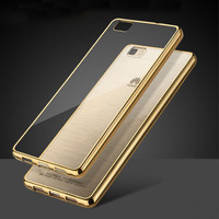 Ultra Thin Clear Crystal Rubber Plating TPU Soft Case Cover For Huawei Ascend P8 Lite