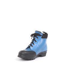 Ladies Neoprene Shoes Thickness 3mm Blue Color Runing Boots For Women With Shoelace