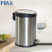 Stainless Steel indoor round foot pedal dustbin hospital medical waste bin