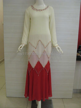 Jubah Chiffon Color Block