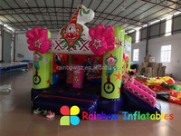 Christmas small indoor clown inflatable bouncer slide