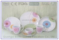 colorful dinner set nativity porcelain