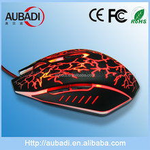 2014 Best selling wired Gaming mouse with colorful light