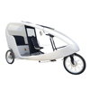 Recyclable PE Street Mobile Passenger Transport 3 Wheel Electric Rickshaw, Electric Pedal Assist Similar to German Velo Taxi
