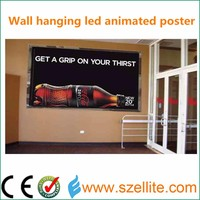 2015 new creative technology slim animated Light Up LED Advertising