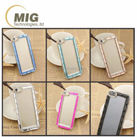 Sublimation Clear PC crystal cell phone case with diamond for iphone 6 6s plus Custom for apple iphone all models