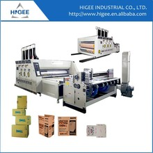 Automatic printer slotter die cutter machine for carton box equipement