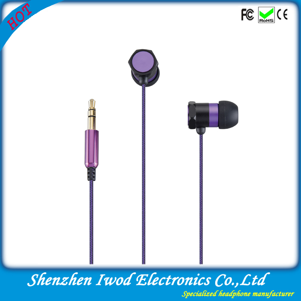Shenzhen earphone&headphone factory low price funny shoe lace earphone