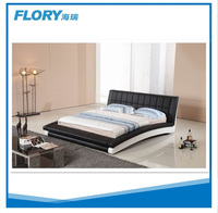 wholesale leather bed furnitures black and white color BL9033