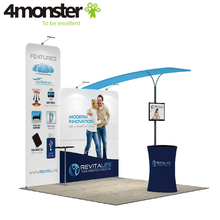 Shortest delivery easy portable tension fabric trade show display booth
