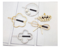 Fashion Ladies Fancy Wholesale Hair Clips Star Crown Flower Metal Hairgrips