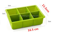 DIY 6 cavity silicone ice cube tray,silicone cup cake mold,ice cream maker