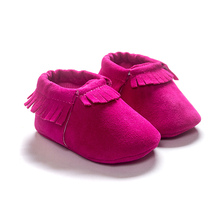 2016 Hot PU Suede Leather Newborn Baby Boy Girl Baby Moccasins Soft Shoes Fringe Soft Soled Non-slip Footwear Shoe