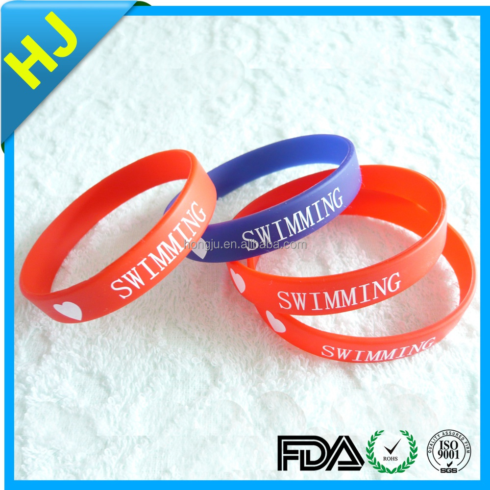 Free Sample Logo OEM Debossed Custom Silicon Wristband