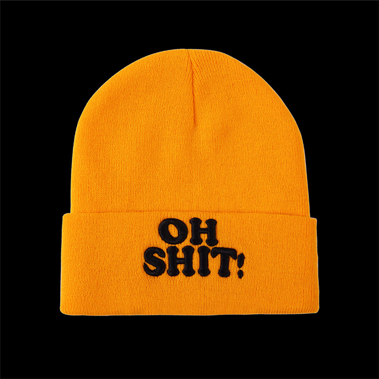 Factory Supply custom design comfortable funny custom knitted hat