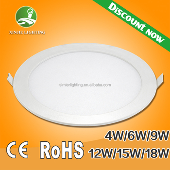 2015 made in china wholesale hot sale round led panel