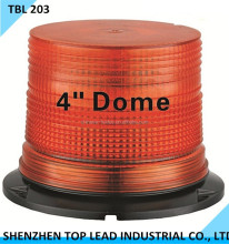 "High Quality 4"" Dome Warning Light LED beacn with metal base"