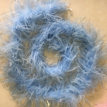 wholesale high quality dyed light blue ostrich feather boa