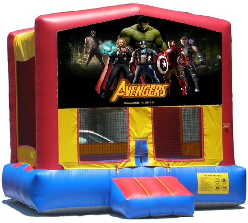Avengers Bounce House Inflatable Jumper Art Panel Theme Banner 13' x 13' (No Bounce House)