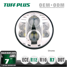 "Hot selling 7"" led headlight for harley motorcycle, jeep, DOT, EMARK"