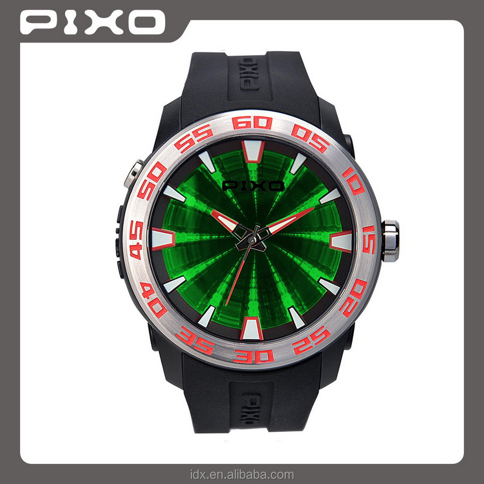 PX-8 wrist watch manufacturer silicone rubber sport stainless steel Vogue water resistant quartz wrist watch men