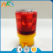 Solar Powered PC LED Barricade rechargeable beacon warning light