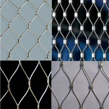 High quality ferrule or woven type zoo mesh/animal enclosure