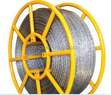 Galvanised Steel Wire Rope Anti Twisting Braided Steelrope Diameter 11mm