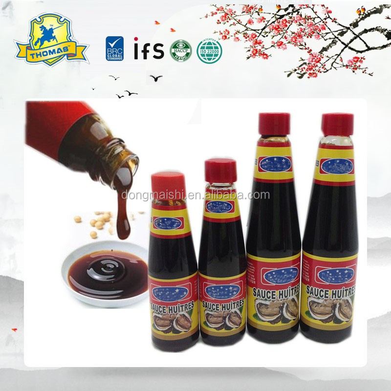 Hot Sale 9oz & 18oz Chinese Natural Vegetarian Oyster Sauce In Glass Bottle